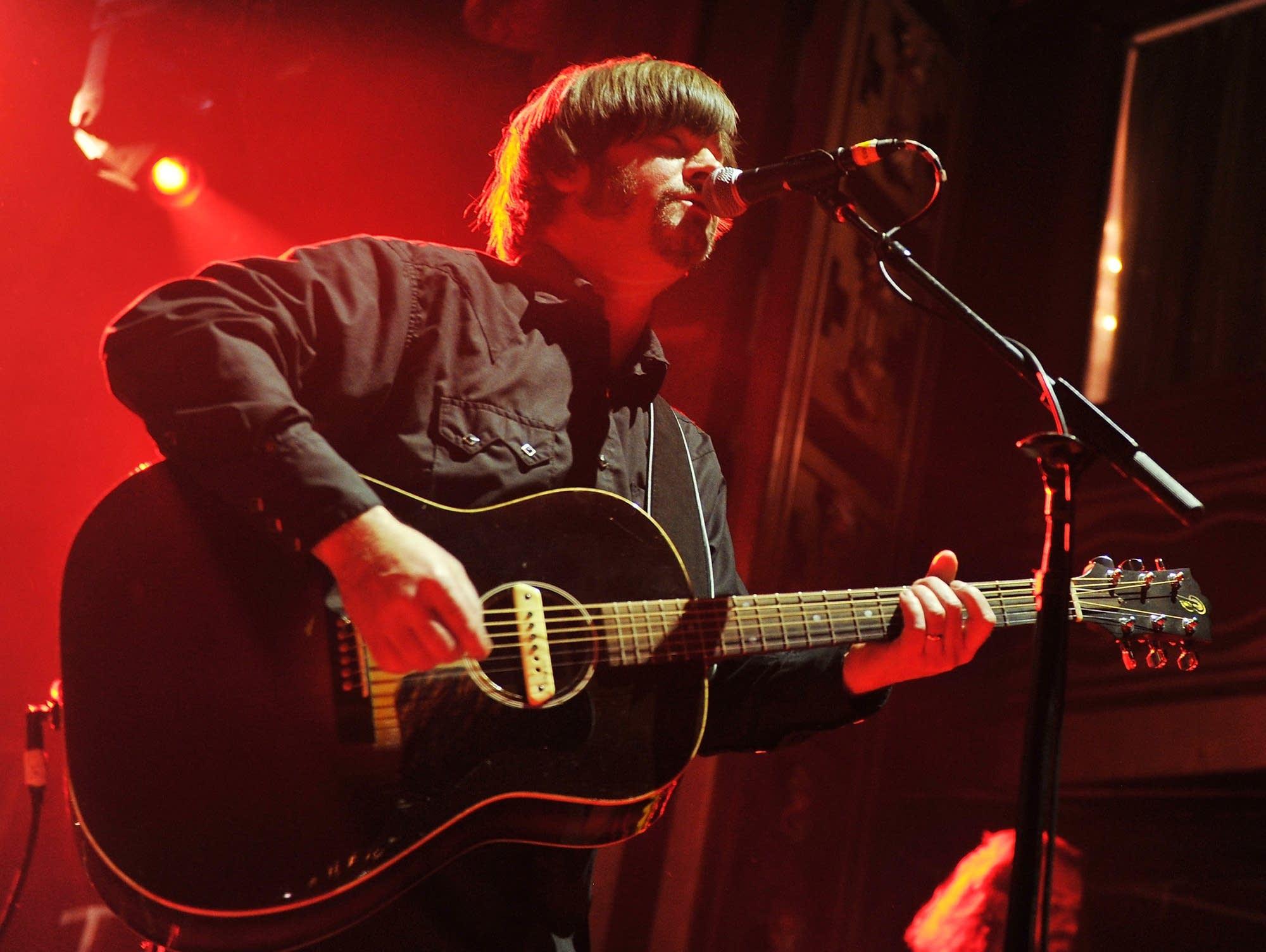 Jay Farrar performs in New York City, 2012