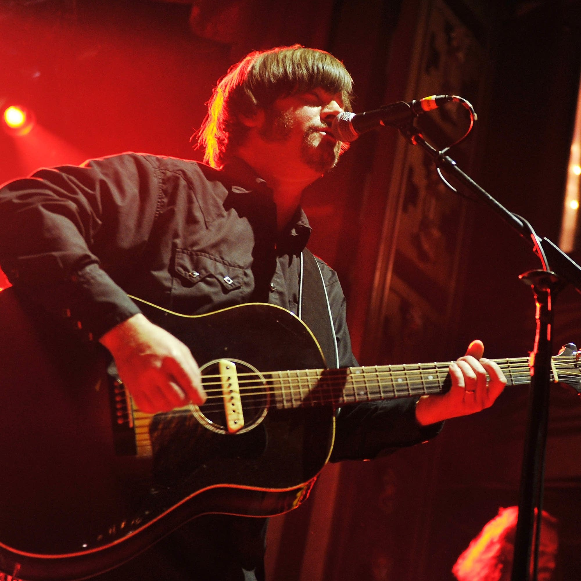 Jay Farrar performs in New York City, 2012