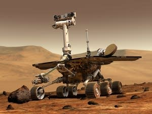 An illustration of the Mars rover.