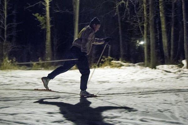 Night ski race in Bemidji