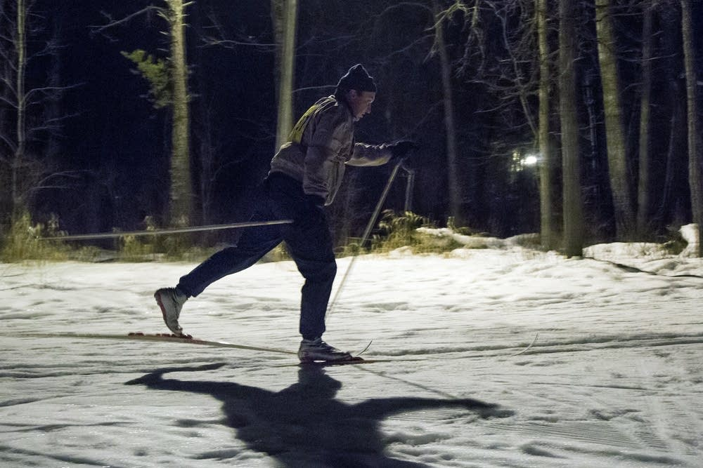 Night ski race in Bemidji