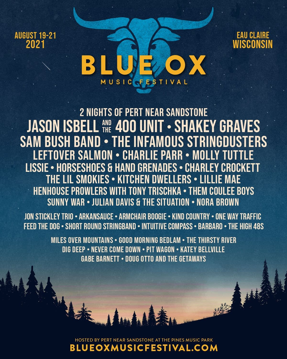 Blue Ox Festival 2021 Lineup Poster