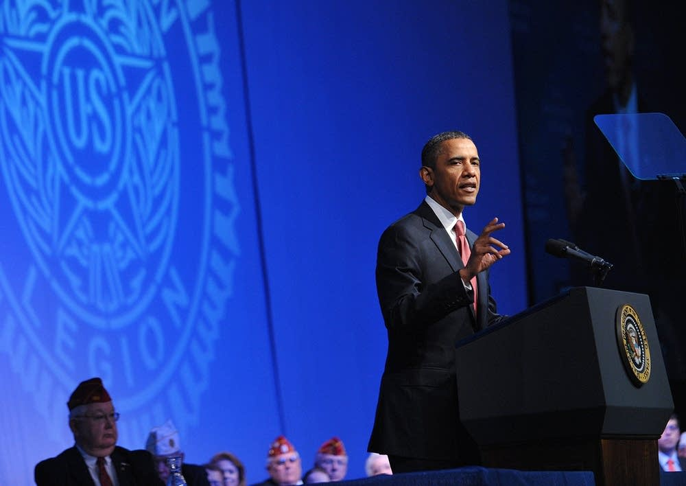 Obama addresses American Legion convention