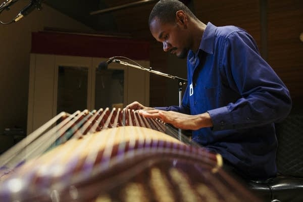 Jarrelle Barton plays the guzheng