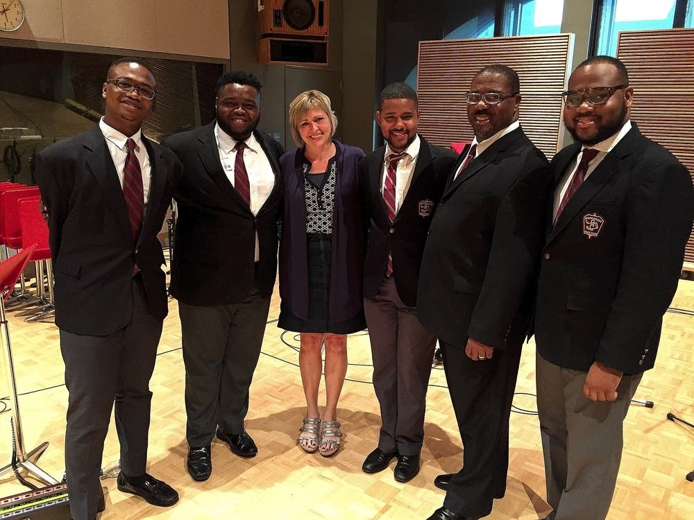 Julie Amacher and Morehouse College Glee Club