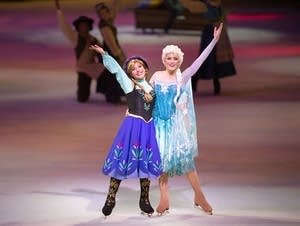 Olivia Oltmanns (right) is a skater with