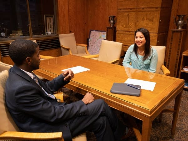 St. Paul Council Member-elect Nelsie Yang and Mayor Melvin Carter