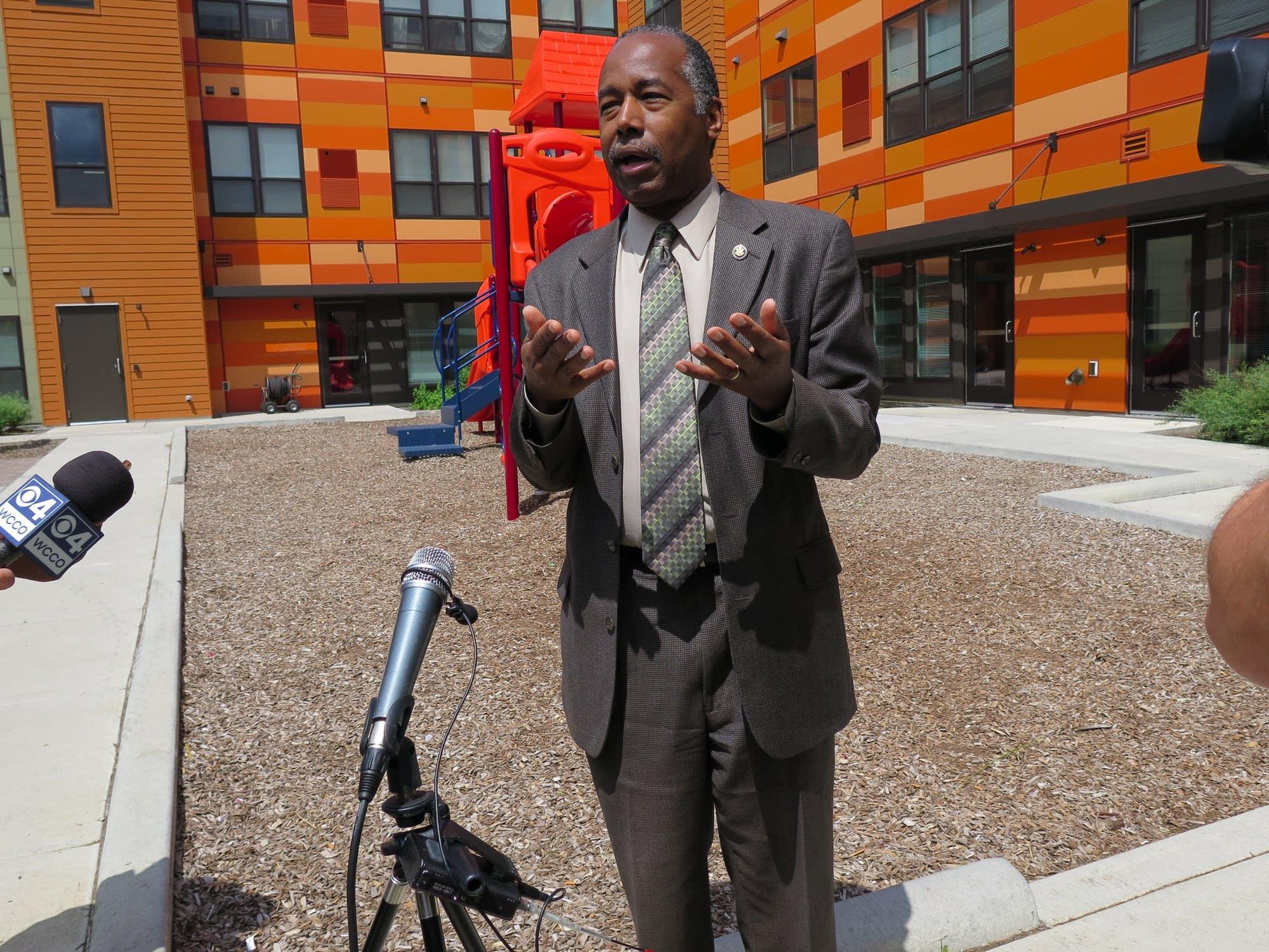 HUD Secretary Carson defends Trump housing policy in Minneapolis