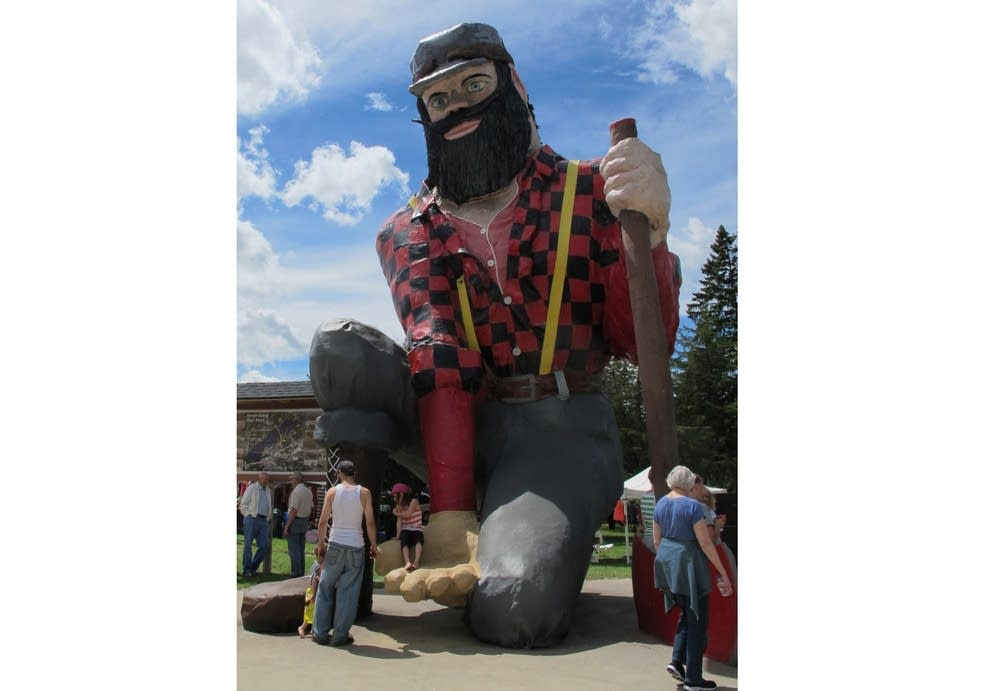 Paul Bunyan statue in Akeley, Minn.