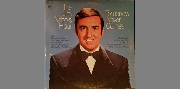 Record album cover: The Jim Nabors Hour (man in tuxedo smiling)