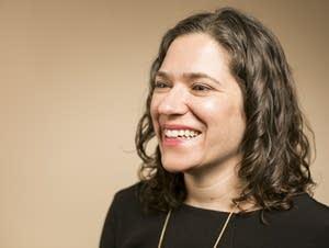 Lisa Bender sits for a portrait at MPR.