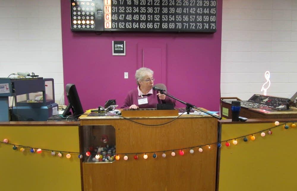 Flamingo Bingo caller Jeanette Fortier