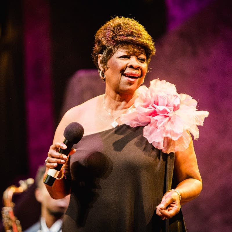 Irma Thomas performs at the Guthrie Theater.