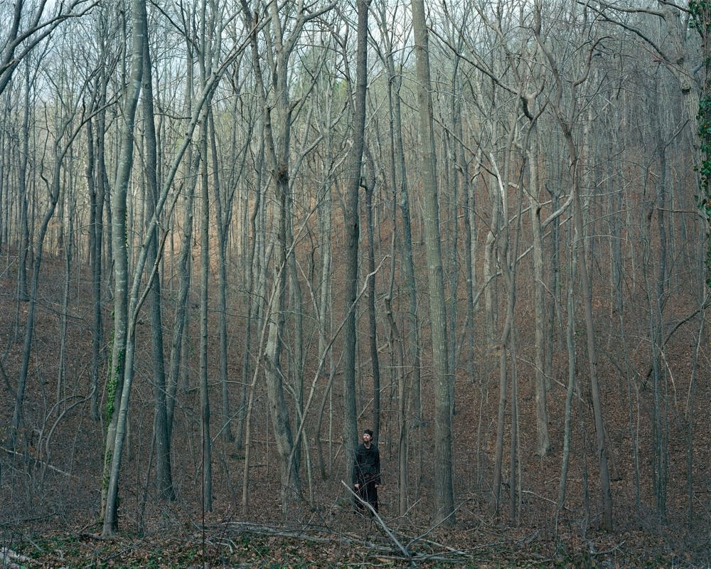 Man in woods