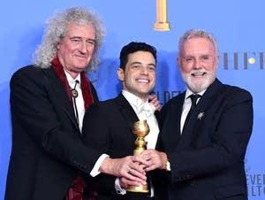 Rami Malek, Brian May and Roger Taylor