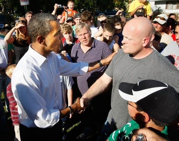 Barack Obama and Joe Wurzelbacher