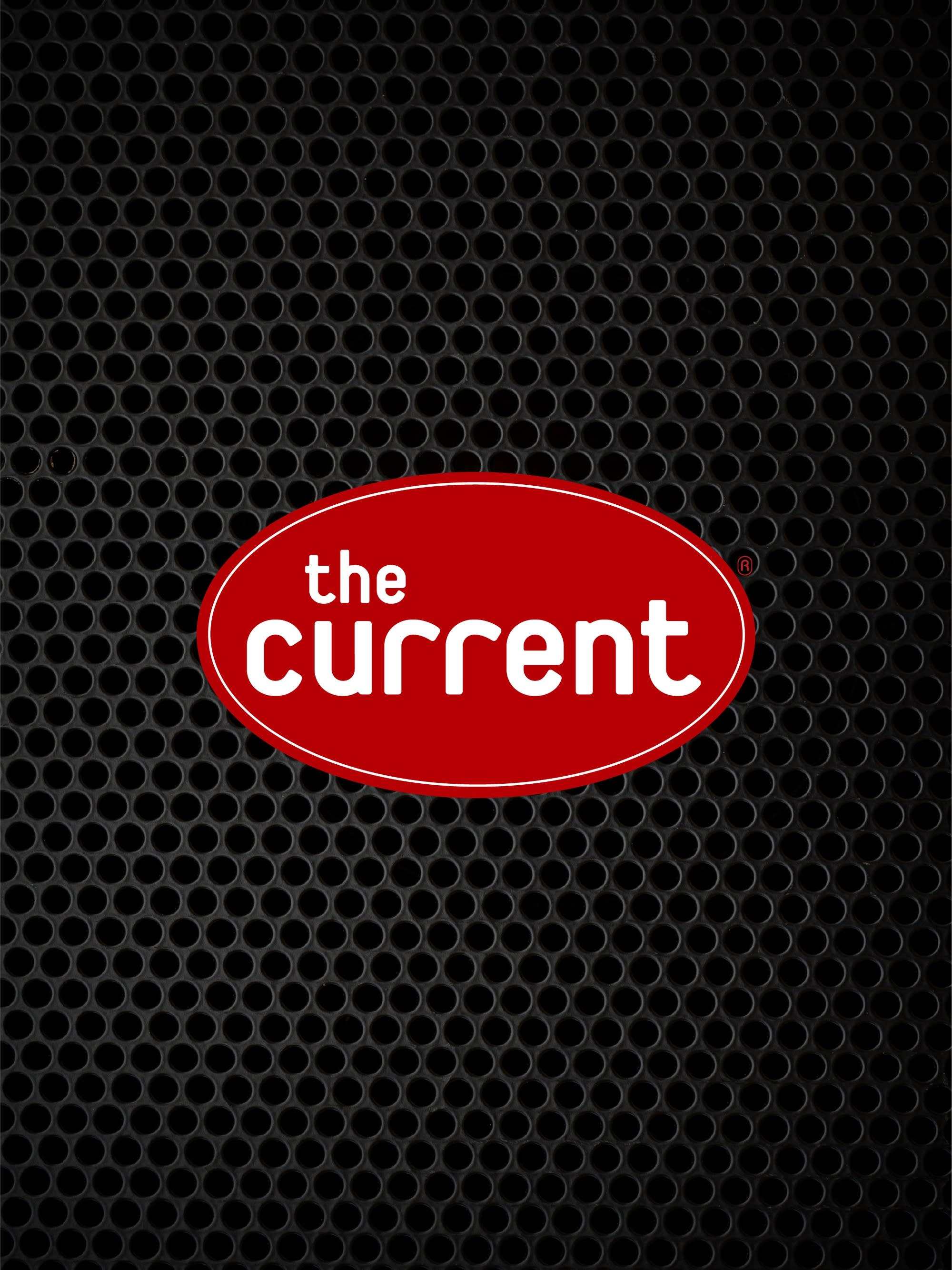Speaker surface with The Current logo.