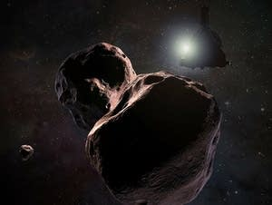 An artist's rendering of New Horizons spacecraft encountering Ultima Thule