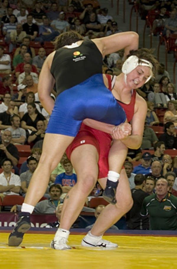 Bernard wrestling