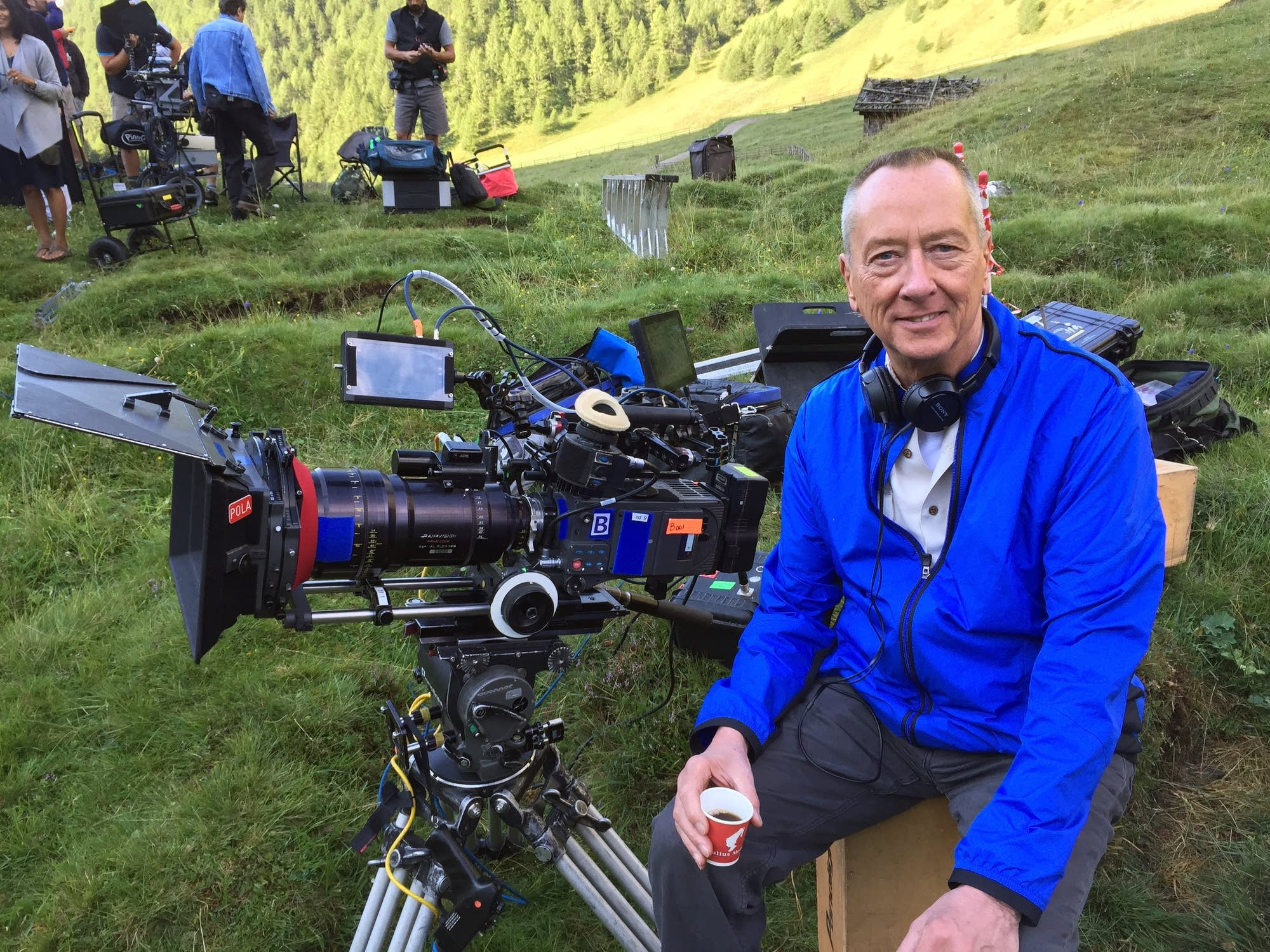 Minnesota native Barry Morrow on the set of 'Smitten!' in the Italian Alps