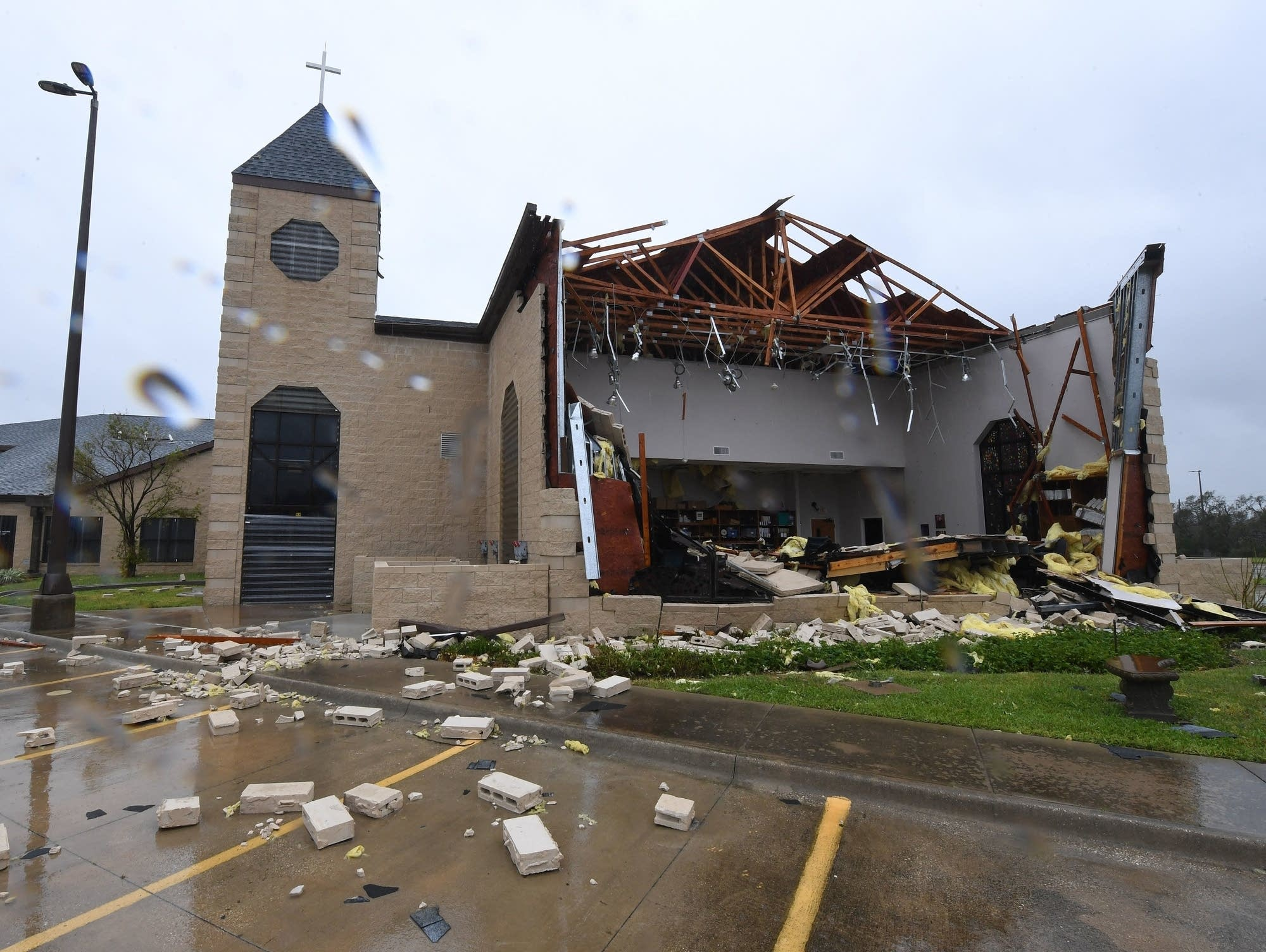 Damage to the First Baptist Church of Rockport