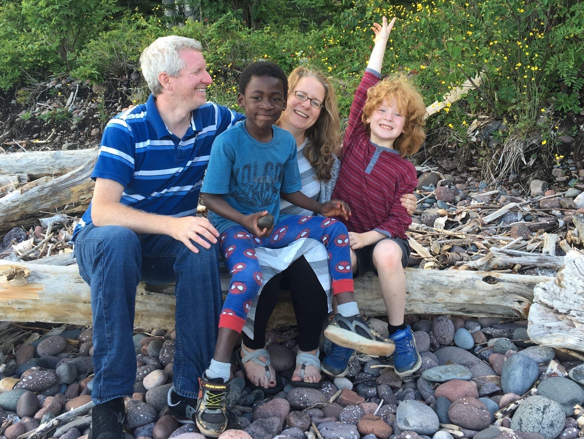 Rachel Wannarka, Brendan Miller and sons