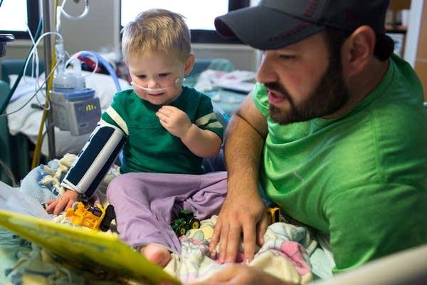 Landon Flannery, 2, at Mpls. Children's Hospital