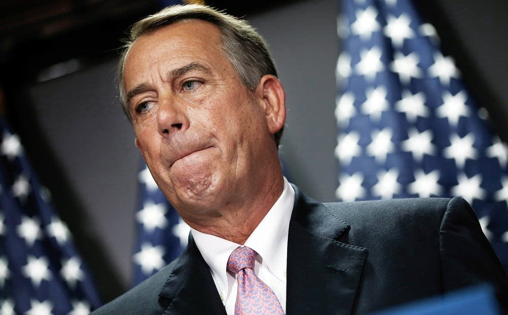 House Speaker Boehner Addresses Media After Weekly
