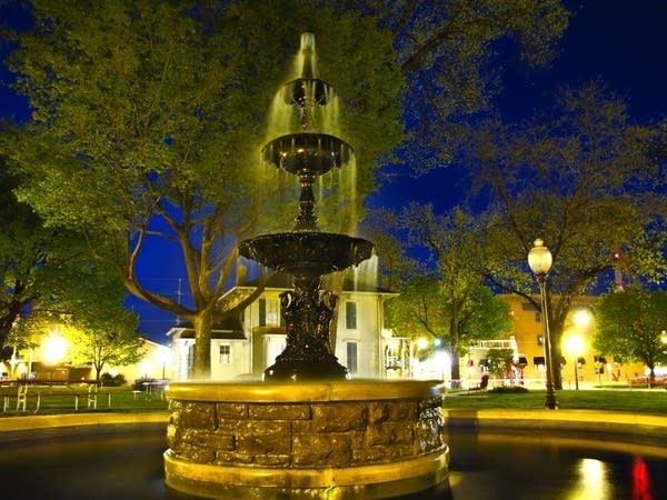 A fountain in Rochester
