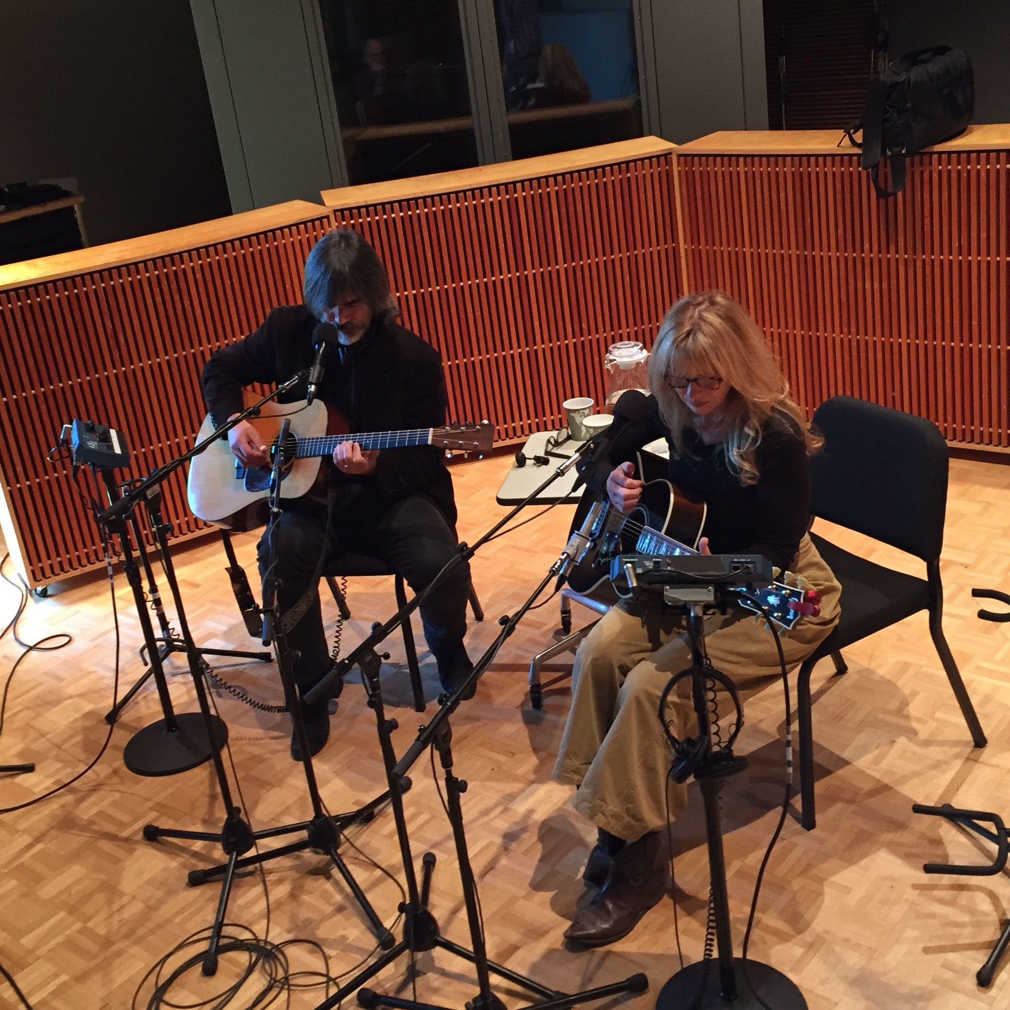 Larry Campbell and Teresa Williams at Radio Heartland