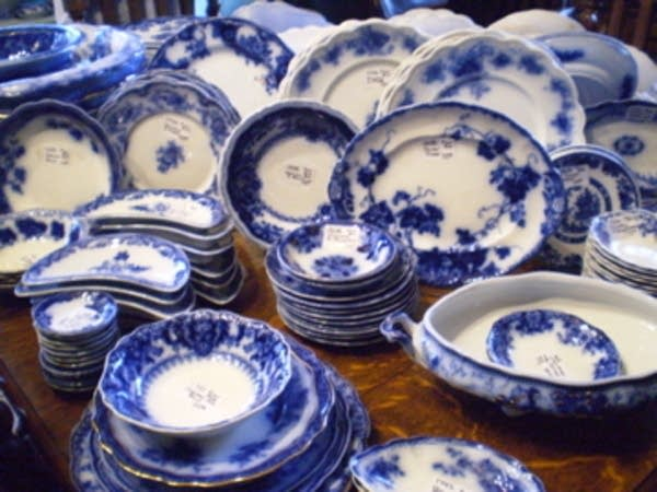 Tessie Bowman's collection of Flow Blue china