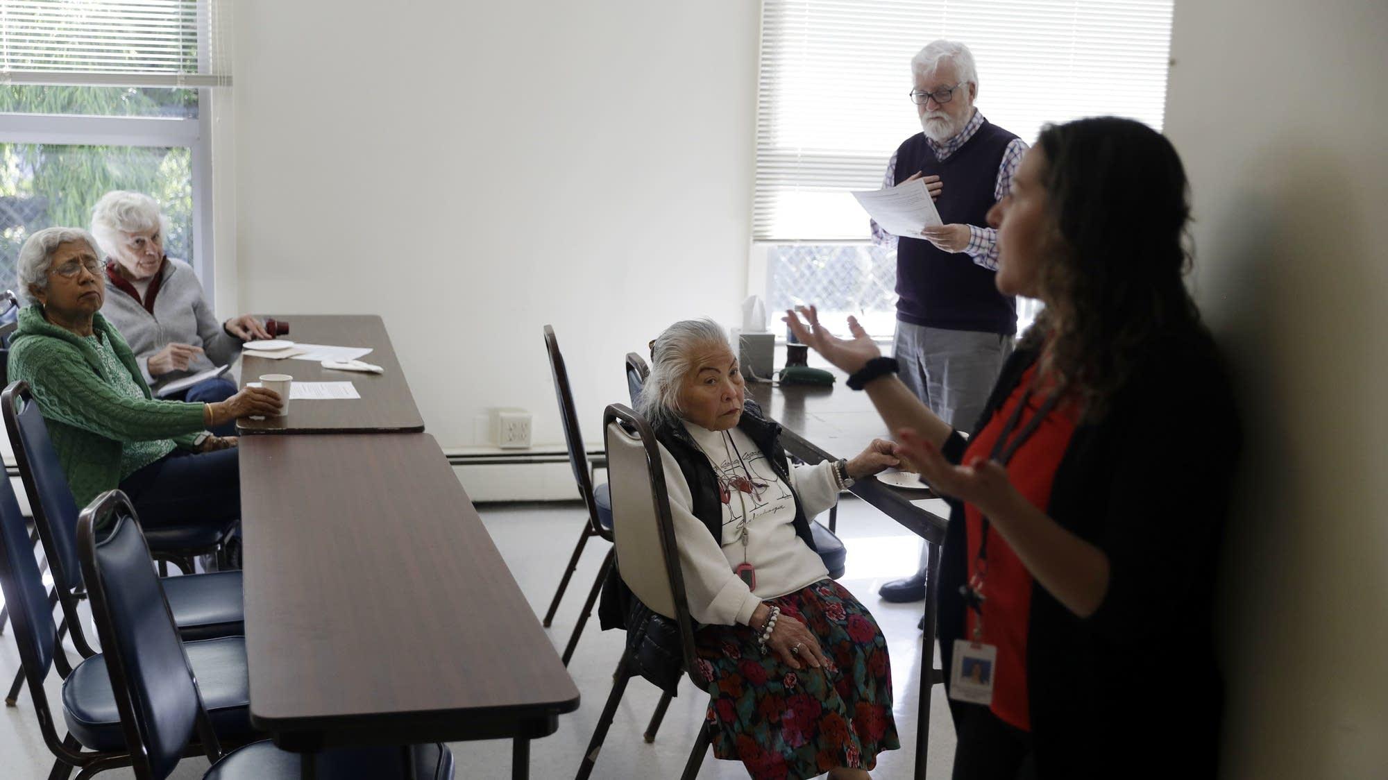 Volunteer program manager Kathy Blando (right)