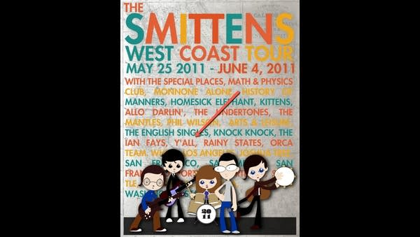 A 2011 concert poster for The Smittens