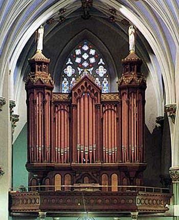 1871 Hook organ at Saint Mary's Roman Catholic Church, New Haven,...