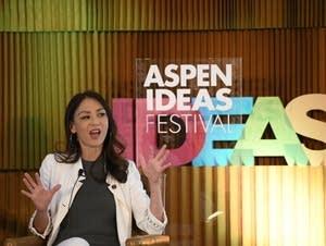 Amy Chua addresses the audience at the 2018 Aspen Ideas Festival.