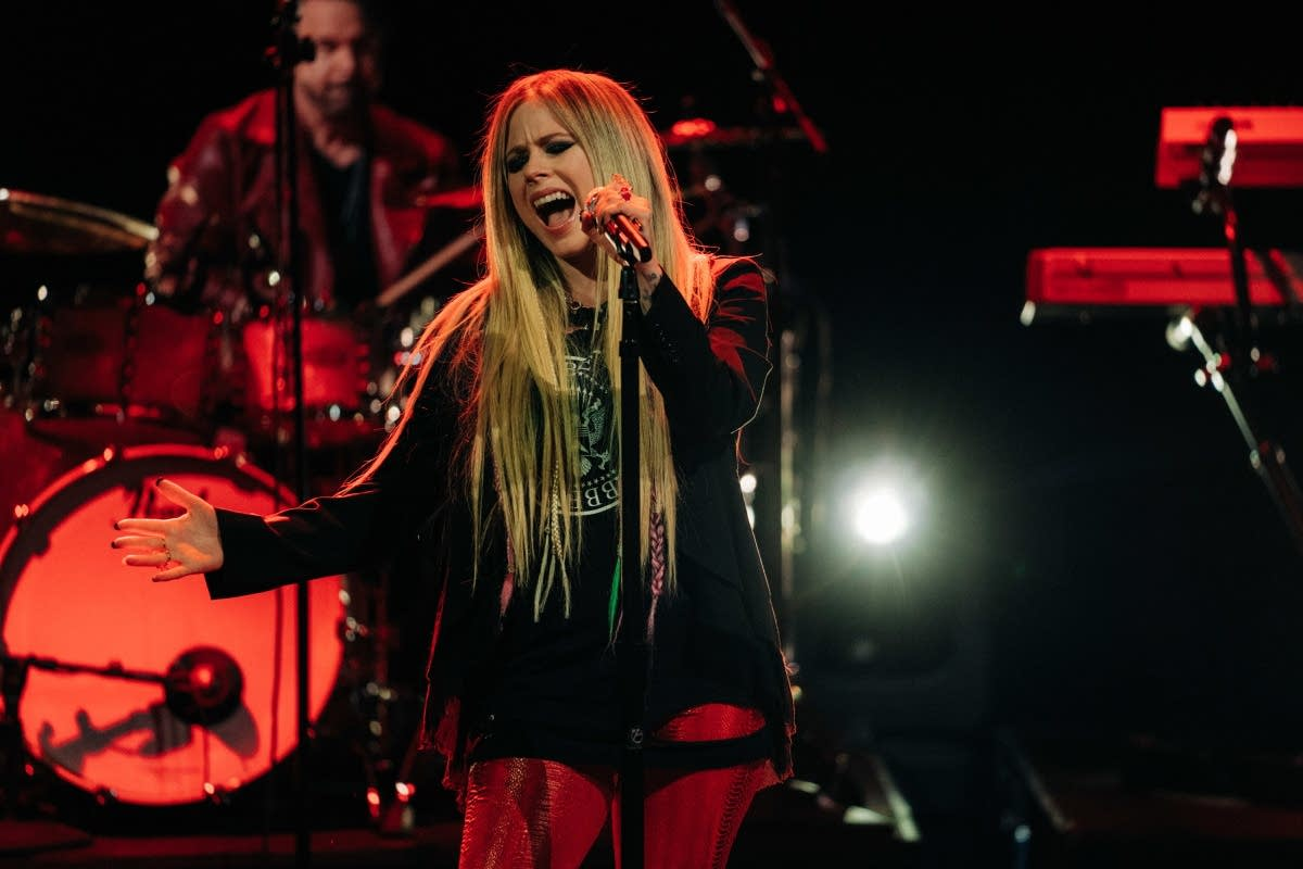 Avril Lavigne performs on 'The Late Late Show with James Corden'