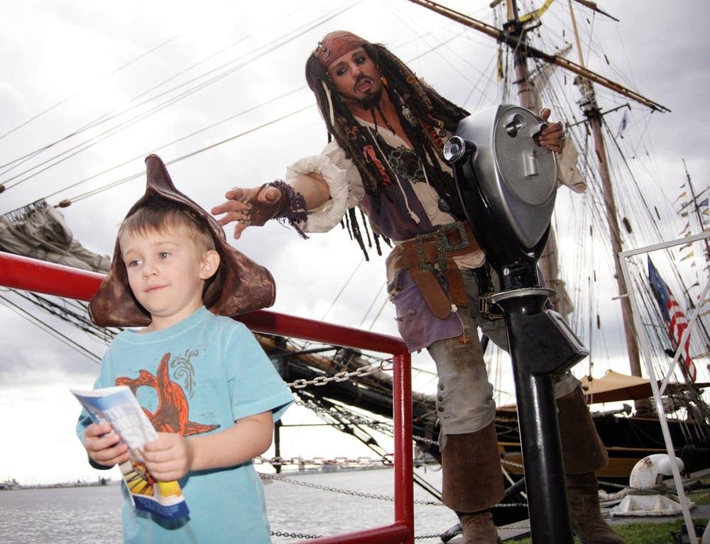 'Jack Sparrow' impersonator