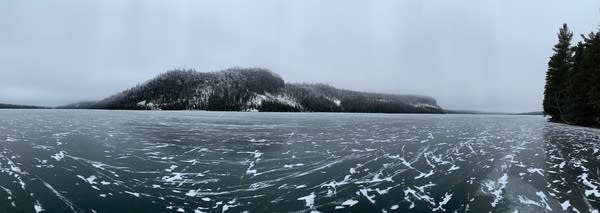 Wild ice on Clearwater Lake in the BWCA