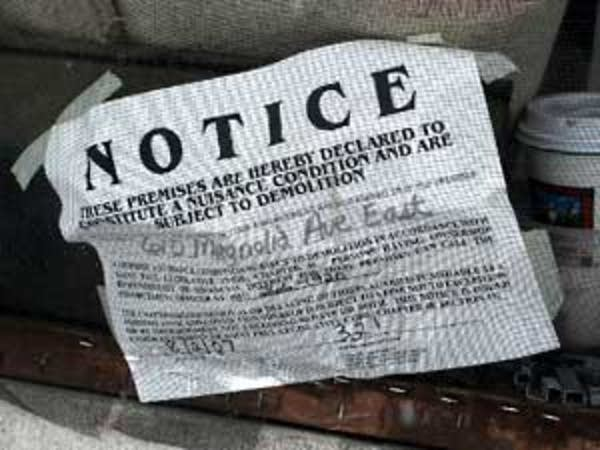 Nuisance notice