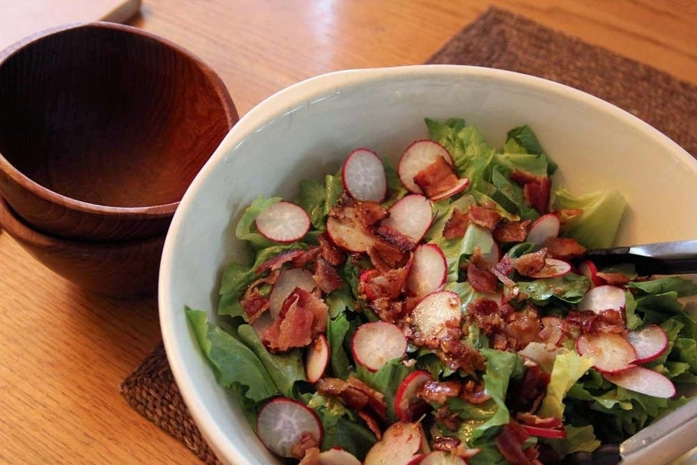 Escarole and Radish Salad with Maple Dressing