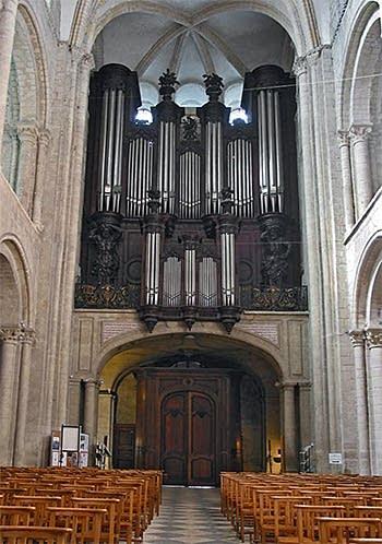 1885 Cavaillé-Coll organ at Saint Etienne, Caen, France