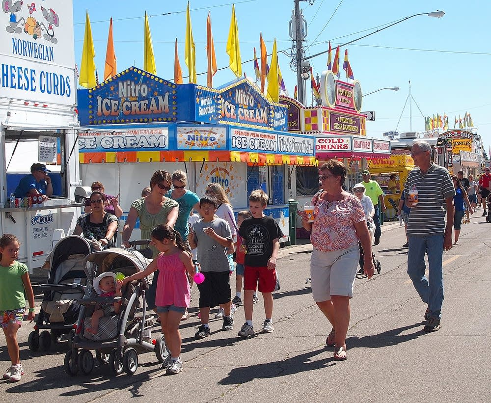 Visitors to the Steele County Free Fair