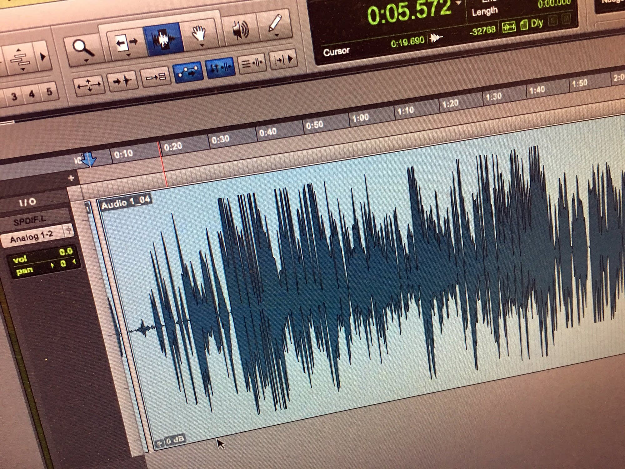 A Pro Tools session