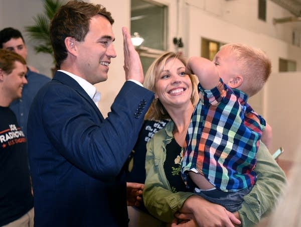 Joe Radinovich with his fiance Carly Melin, and her son Teddy Norenberg.