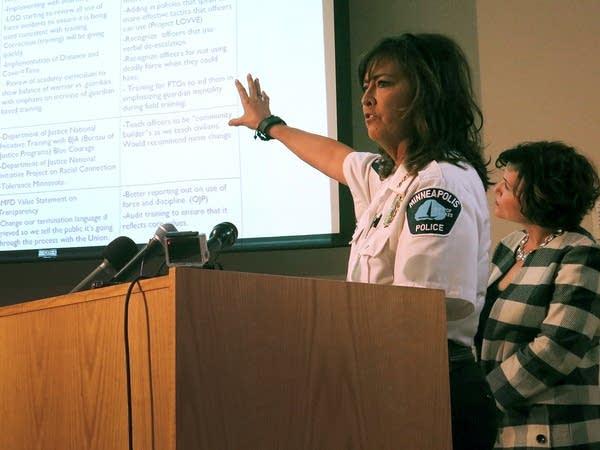 Minneapolis police chief Janee Harteau