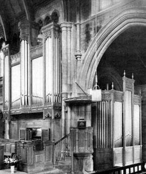 1952 Harrison organ at Saint James Church, Muswell Hill, London, UK