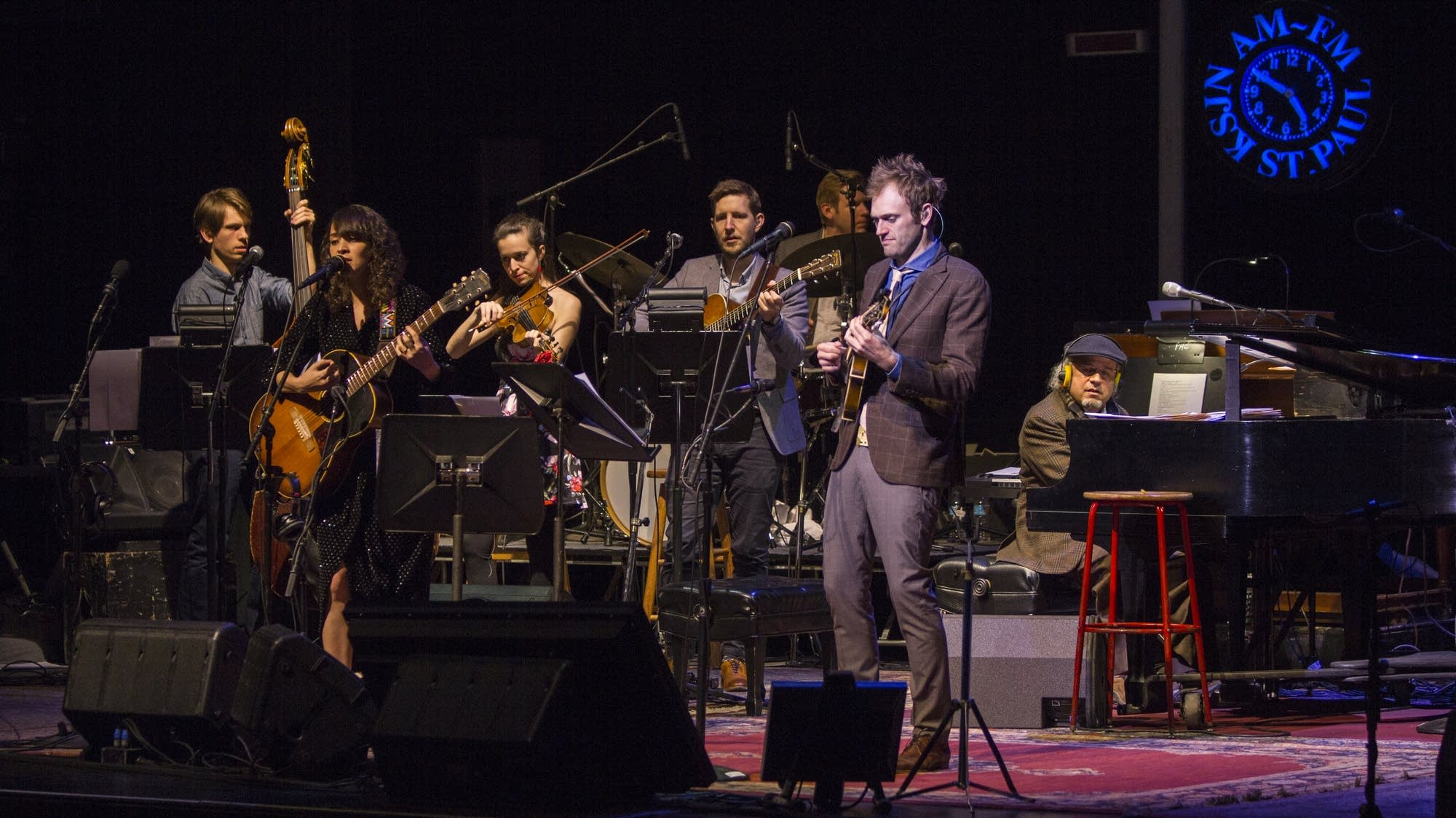 Chris Thile with the band