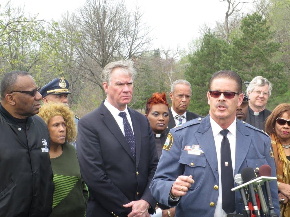 Police Chief Tom Smith and Mayor Chris Coleman