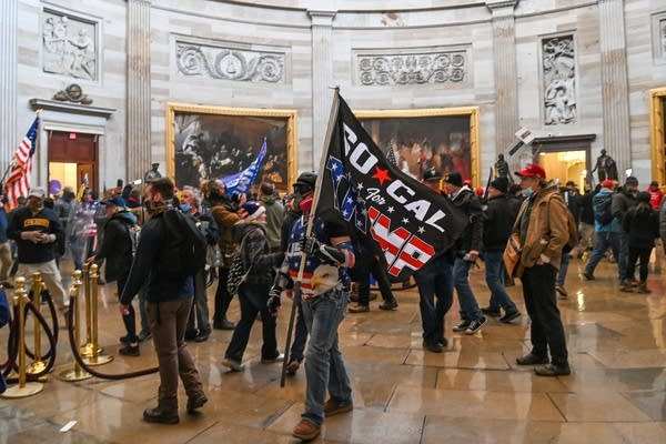Mob breaches the U.S. Capitol.