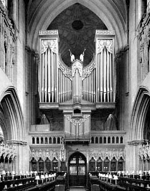 1974 Harrison organ at Wells Cathedral, England, UK